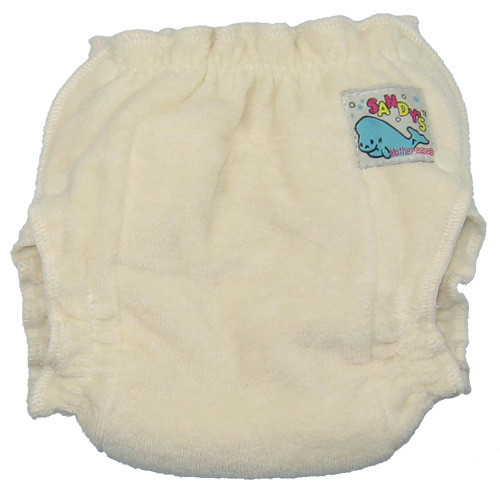 Mother Ease Sandy's Unbleached Fitted Diaper-Large