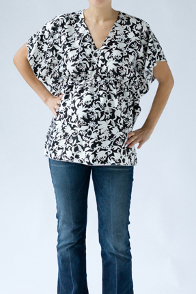 Hatch Maternity - Floral Butterfly Top