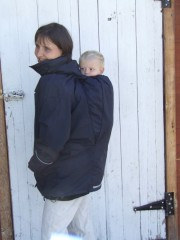 Deluxe Maternity & Babywearing Coat Black - Suse's Kinder